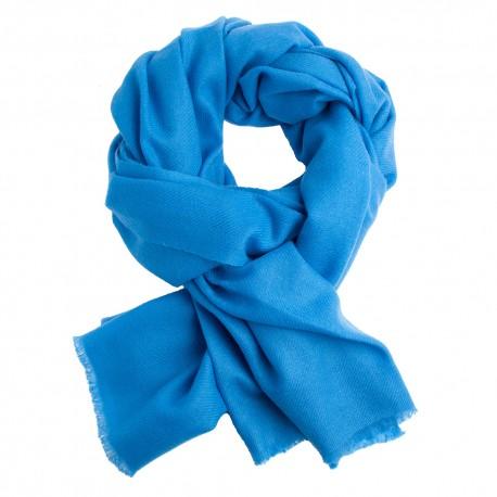 Cashmere tørklæde azurblå